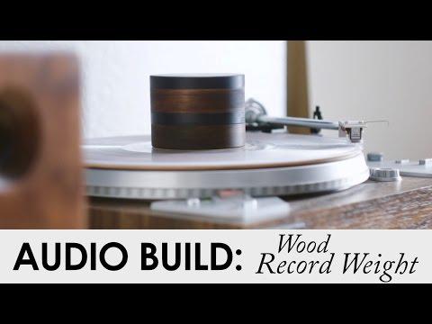 DIY Wood Record Weight | Ebony & Walnut