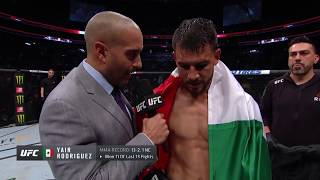 UFC Boston: Yair Rodriguez Octagon Interview
