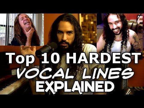 Top 10 Hardest Vocal Lines Explained - Ten Second Songs Voice Teacher Ken Tamplin Reacts