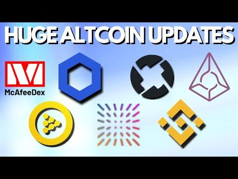 Huge Altcoin Updates | John McAfee Dex | Chainlink | iExec | 0x Protocol | Augur | Binance | Insolar