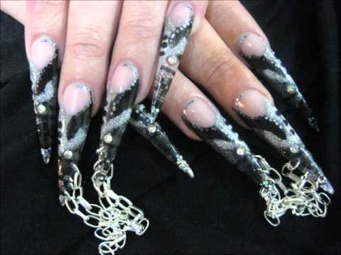 Lish Nail Creations Black And Silver Nail Art Competition 2010 Youtube