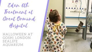 EDEN'S GREAT ORMOND STREET HOSPITAL VISIT || HALLOWEEN AT GOSH | LONDON SEALIFE