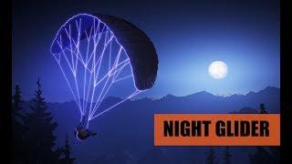 ночной параплан - Speed Riding at night