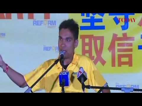Prabu Ramachandran speaks at the Reform Party rally, Punggol East by-election, Jan 20, 2013