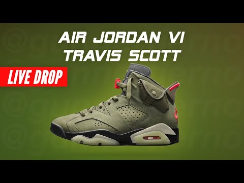 TRAVIS SCOTT Jordan 6 Cactus Jack Shock Drop Nike Air Jordan VI Travis Scott How To Cop Live Stream