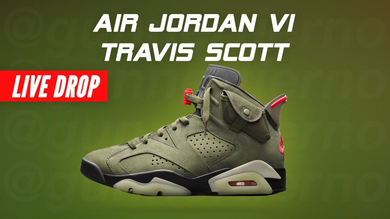 TRAVIS SCOTT Jordan 6 Cactus Jack Shock