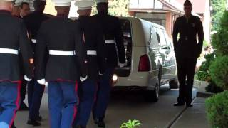 Lance Corporal Abram L. Howard Funeral Home Arrival Ceremony