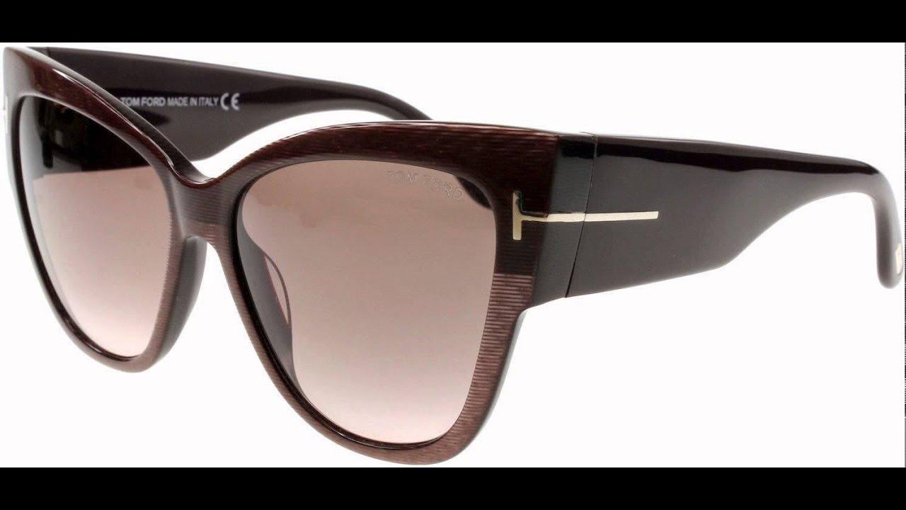 77cd32f3c8 Tom Ford Women s Anoushka Sunglasses in Shiny Black FT0371 01B 57 ...