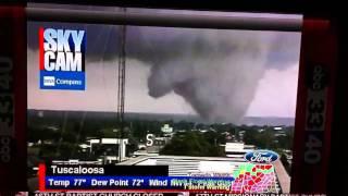 Tornado footage by James spann 4/27/11 Tuscaloosa Alabama thumbnail