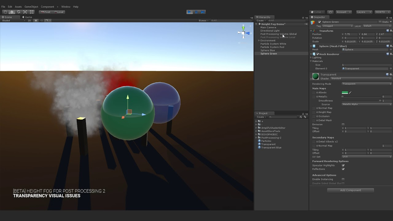 [BETA] Height Fog Post Processing for Unity ● Transparency Issues