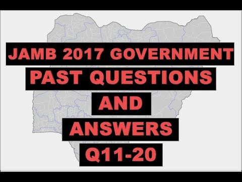 JAMB 2017 Government Past Questions and Answers Q11-20