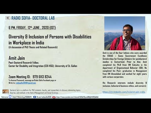 diversity-&-inclusion-of-persons-with-disabilities-in-workplace--amit-jain-#doctorallab-#radiosofia