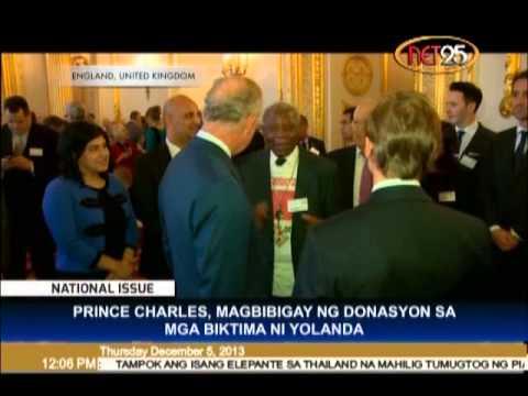 Prince Charles Gives Donations to 'Yolanda' Victims