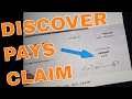 Discover Card Pays Extended Warranty Claim