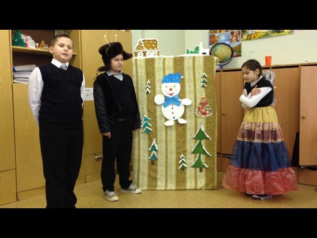 Изображение предпросмотра прочтения – «Учащиеся 4 класса МОУ Кузяевской ООШ» читают произведение «Стрекоза и Муравей» И.А.Крылова