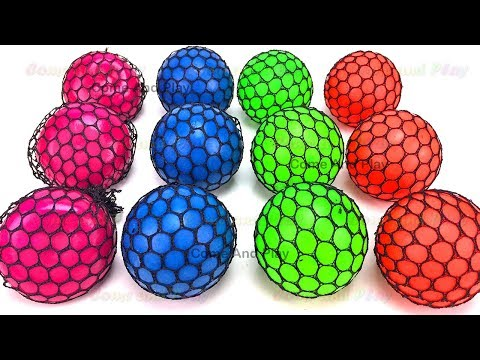 Thumbnail: Learn Colors Squishy Balls Fun for Kids Kinder Man Microwave Surprise Toys Toy Appliance Playset