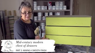 Annie Sloan – Mid-century Modern Project – Part 3: Waxing A Smooth Finish