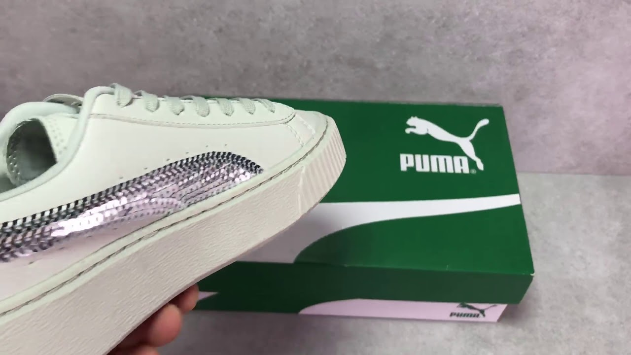 puma suede platform bling