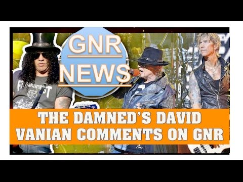 Guns N' Roses News  The Damned's David Vanian Comment's on The Spaghetti Incident