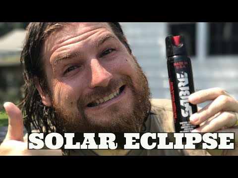 Solar Eclipse with Pepper Spray!