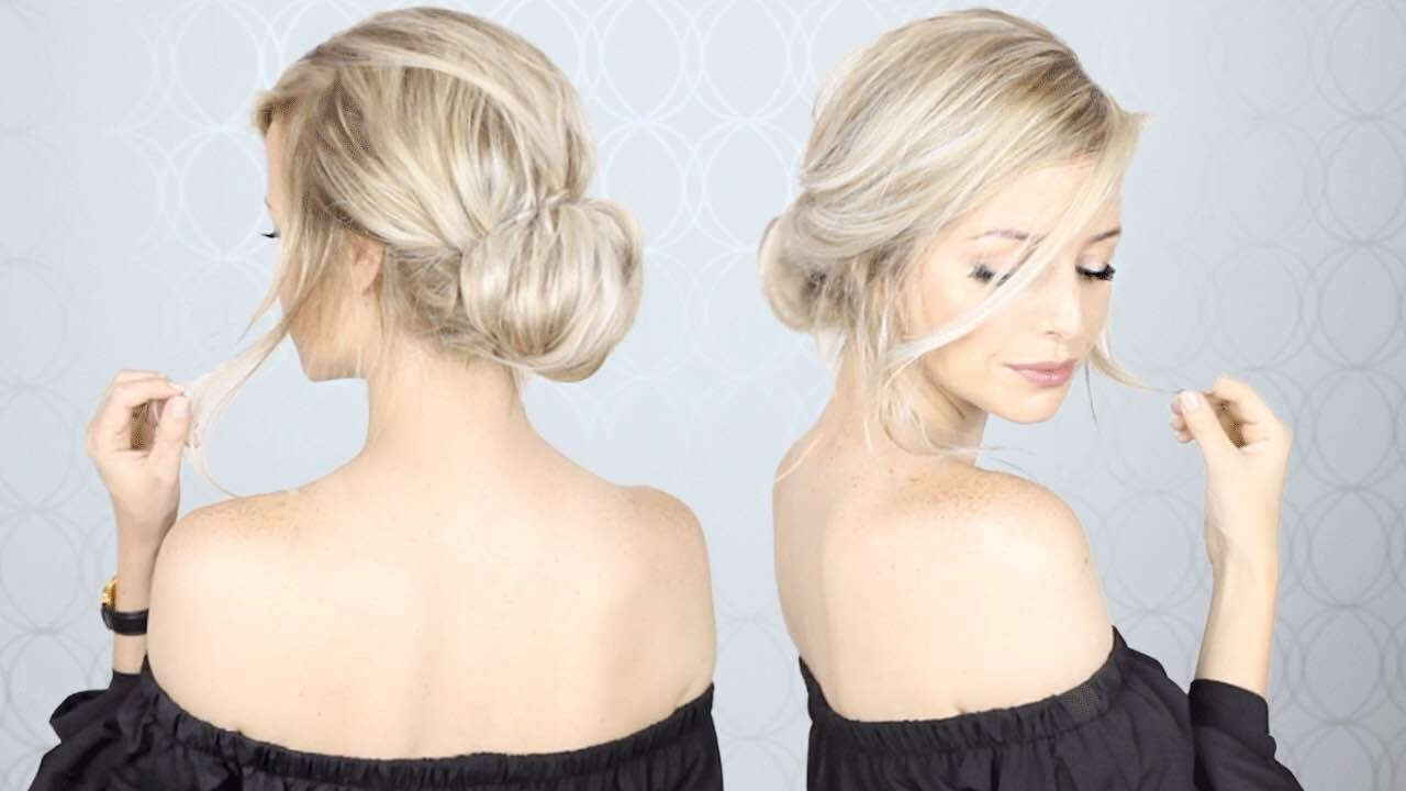 Super Simple Updo Perfect For Long Medium And Short Hair Youtube