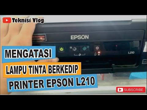Cara muda mengatasi printer Epson L120 yang eror karena paper jam atau lampu indikator kedip bersama.