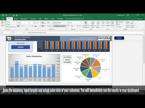 Salesman Performance Tracking - Excel Spreadsheet Template