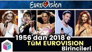 1956'dan 2018'e Tüm Eurovision Birincileri