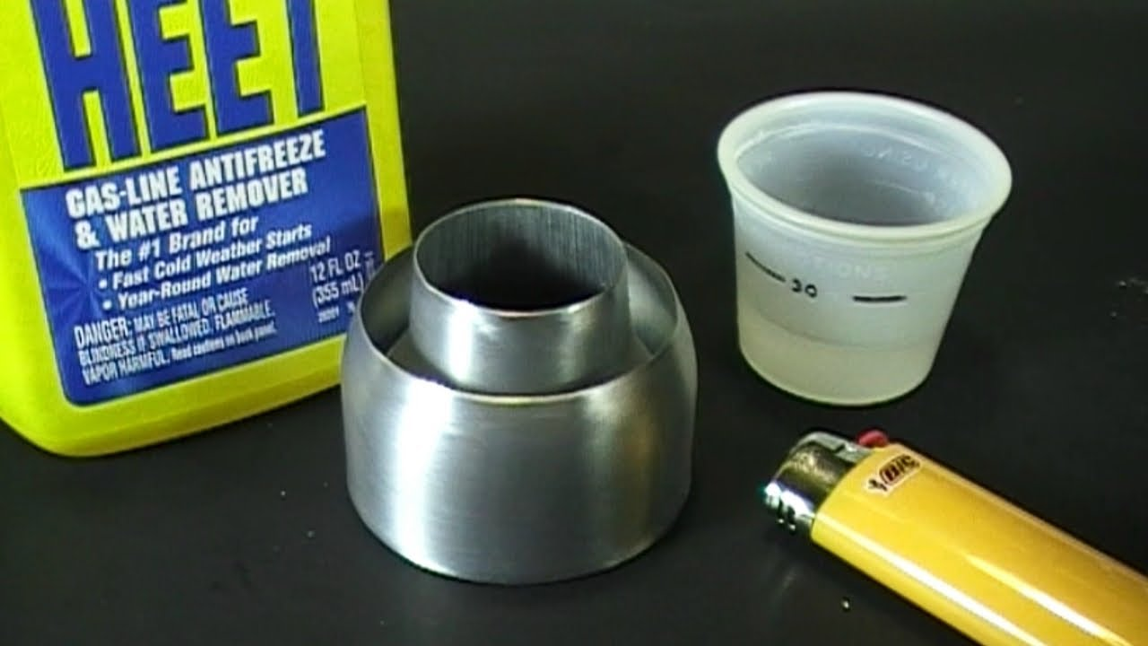how to make a zero alcohol stove youtube