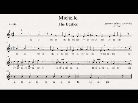 MICHELLE:  (flauta, violín, oboe...) (partitura con playback)