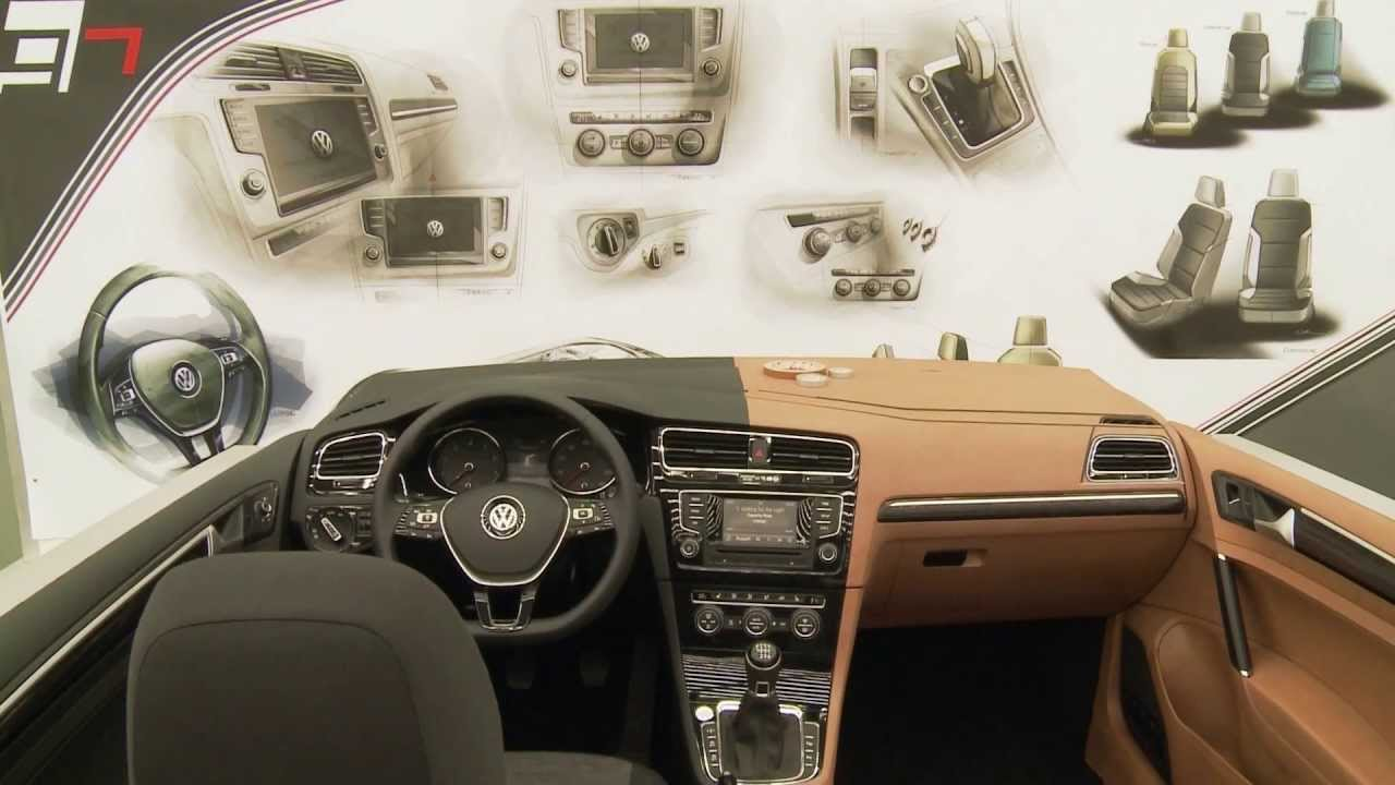 volkswagen golf 7 development interior model youtube. Black Bedroom Furniture Sets. Home Design Ideas