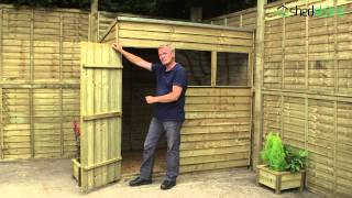 Shed-plus Overlap Pressure Treated Pent Sheds
