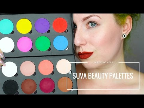 UNBOXING HAUL & SWATCHES: SUVA BEAUTY PALETTES