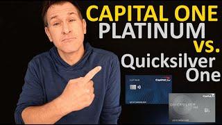 Capital One Platinum vs. Capital One QuicksilverOne Credit Card (Platinum vs. Quicksilver One)