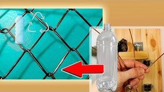 Fence from tube the Plastic Bottles Crafts - Lưới cho hàng rào từ ống chai nhựa tng - Сетка рабица