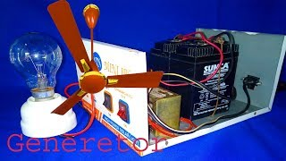 School Science Projects Electricity Backup Generator Machine