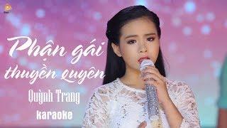 Phận Gái Thuyền Quyên - Quỳnh Trang [KARAOKE]