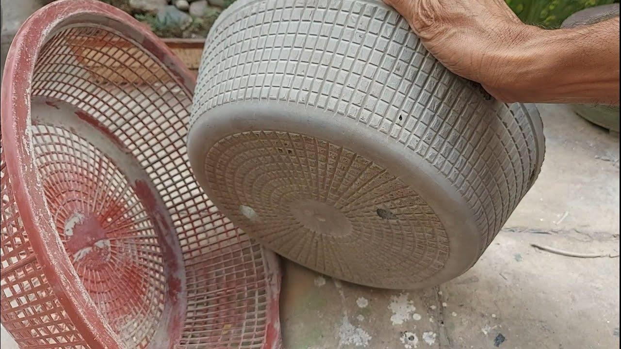 Flower Pot Design Ideas/ Craft ideas at home/Garden project from Cement