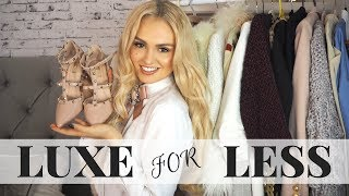 HOW TO LOOK EXPENSIVE //Luxury for Less // Topshop Haul & Styling Session