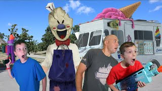 Rod the Ice Scream Man Visits Payback Time! Ultimate Ice Cream Family Battle Game!