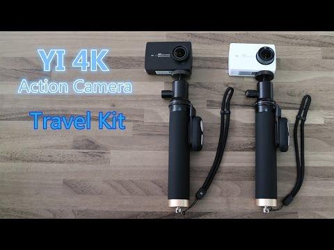 YI 4K Action Camera Bluetooth Selfie Stick Kit (Travel Kit) Unboxing