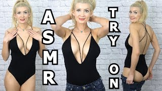ASMR // Thrifted Haul - Clothing Try On