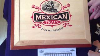 Absolutely Beautiful Wooden Set For Mexican Train Fun | Beautiful Design | Standard Size Dominoes
