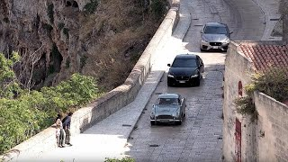 Car chases and stunts as new James Bond film is shot in Italy