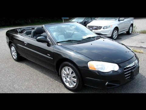 2004 Chrysler Sebring Touring Platinum Walkaround Start Up Exhaust And Overview