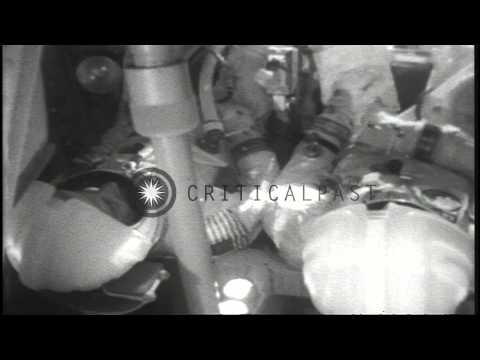 NASA astronauts Chaffee, White, Grissom die from flash fire at grounded space cap...HD Stock Footage
