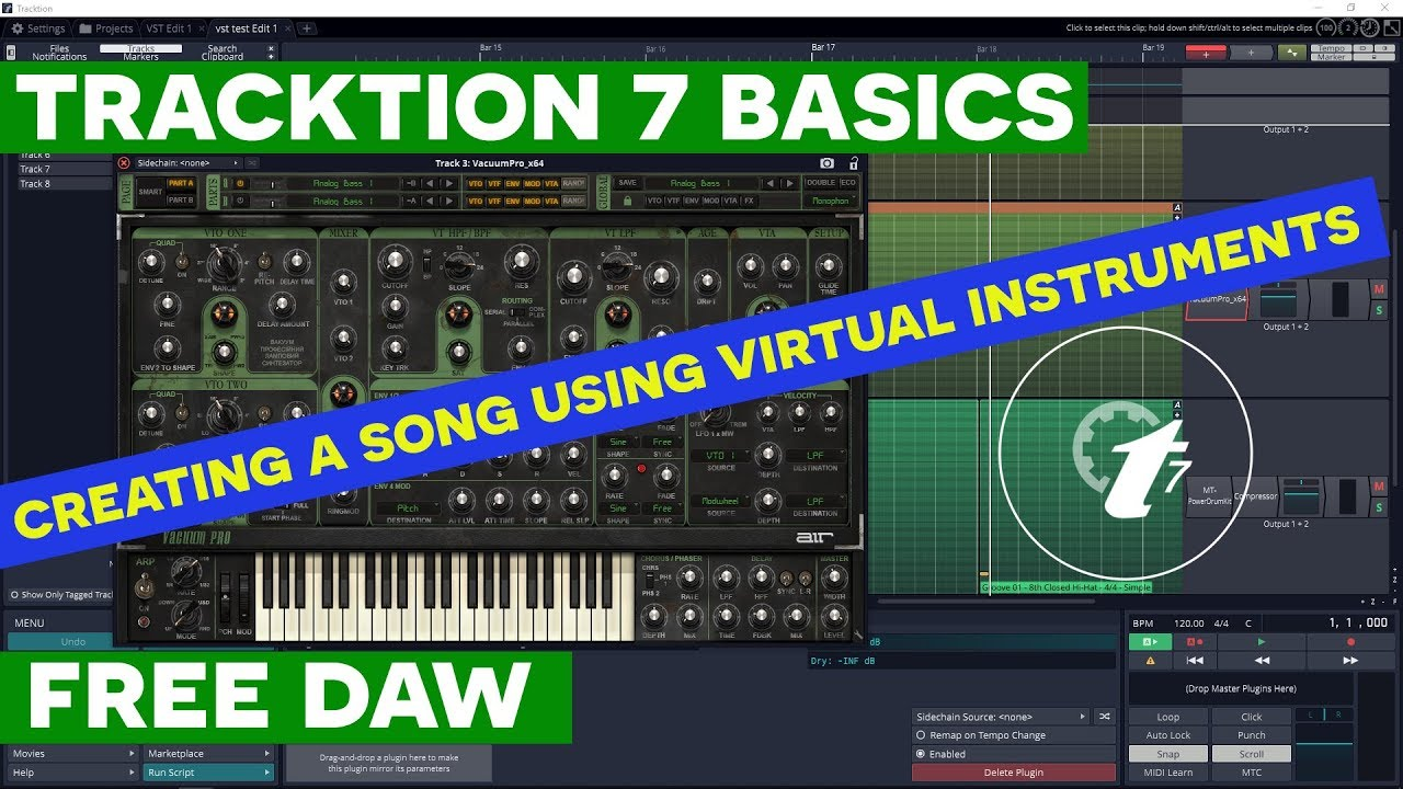 How to Make Music on Computer - Using Virtual Instruments in Tracktion