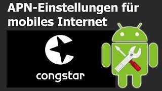 Congstar: APN-Einstellungen für mobiles Internet
