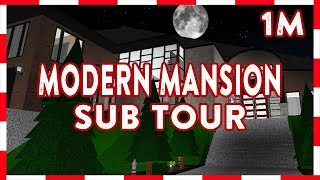 ROBLOX | Benvenuti in Bloxburg: 1m moderna MANSION (Sub Tour)