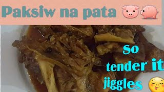 How to Cook Braised Pork leg or Paksiw na pata  .Episode 2  ( Pinoy Food Recipe )